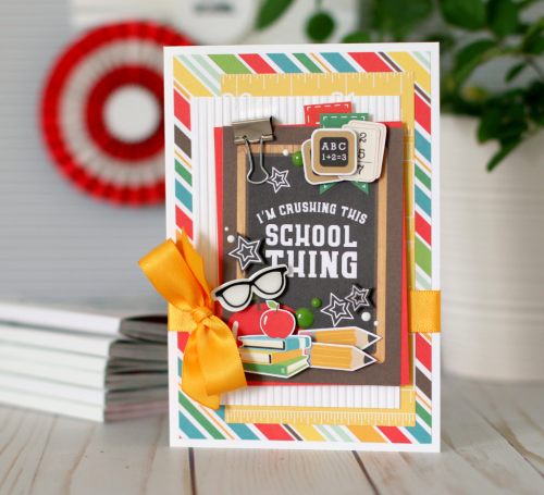 """Back to School"" student card by Anya Lunchenko for #EchoParkPaper"