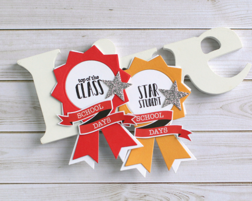 """4""""Back to School"""" prize ribbon by Anya Lunchenko for #EchoParkPaper"""