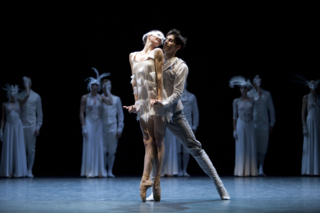 photo © Angela Sterling  Anja Behrend as the White Swan and Stephan Bourgond as the Prince