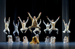 "photo © Laurent Philippe Alvaro Prieto as the King (center) and the company in ""LAC"""