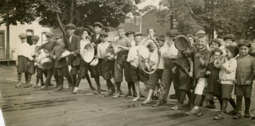 Playground, Elizabeth Street in 1922