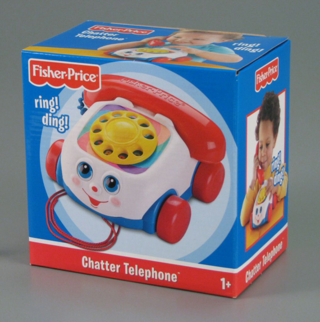 Fisher-Price Chatter Phone, courtesy of the Marianne Szymanski Toy Tips Institute. From the collections of The Strong, Rochester, New York.