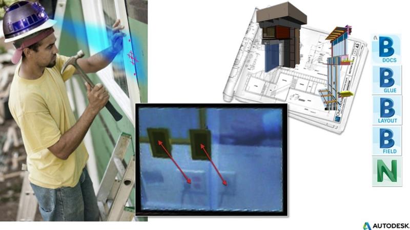 augmented reality AR construction contractor layout installation quality control bim 360 docs glue field navisworks