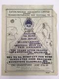 Poster: Transcontinental Pop Festival 1970