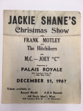 Poster for Jackie Shane's Christmas Show