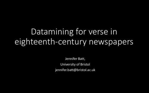 Datamining for verse in eighteenth-century newspapers