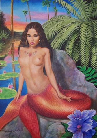 Sirena por Robert Valadez