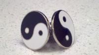 One of my pairs of yin-yang cufflinks.