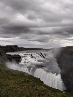 Gulfoss waterfall is spectacular, even when the rain is coming in sideways.