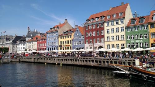 Nyhaven district in Copenhagen, Denmark.