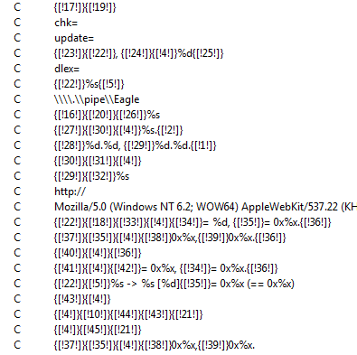 Eagle obfuscated C&C strings