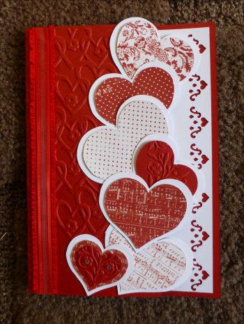 Card ji cascade of hearts