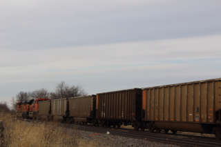 BNSF train in eastern Iowa