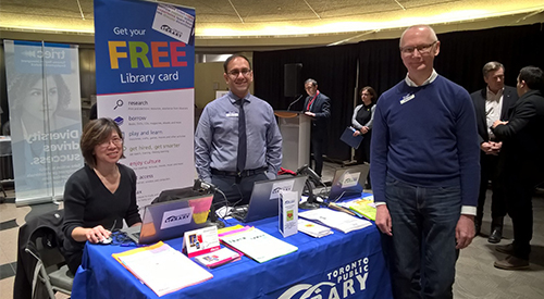 TPL staff at immigrant business expo
