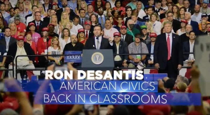 Desantis rally ad