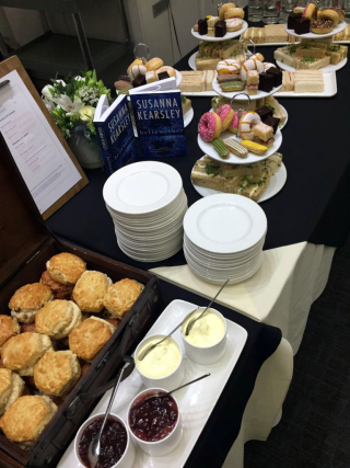 A view of the tea table treats