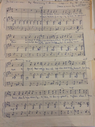First page of 'Desolation' by Brown inspired by Schubert