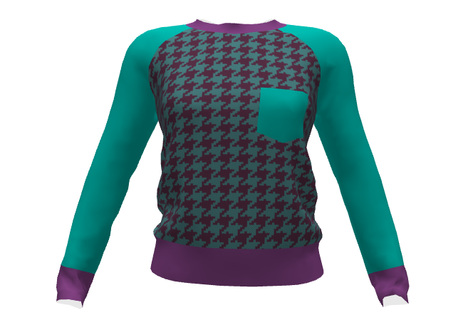 Lane Raglan Sprout Pattern 3D model