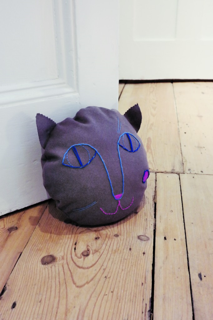 DIY: Embroidered Animal Doorstop