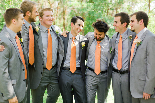 groomsmen matching ties