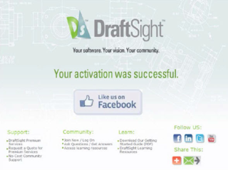 successful draftsight activation
