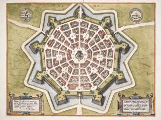 Map of Palma Italy, 1593